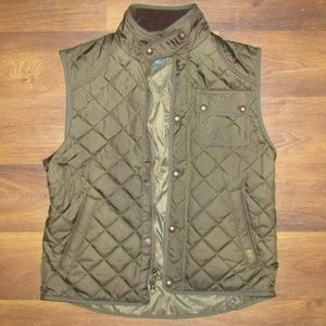 Polo Ralph Lauren Vest Green Brown Size Large